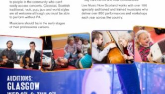 A callout for musicians to audition for LMN Scotland. Deadline 2ND OCTOBER