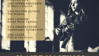 Claire Hastings on tour in UK