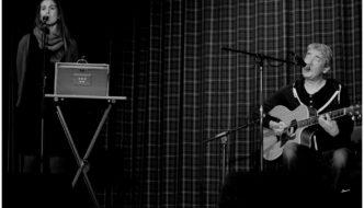 Jenny Sturgeon and Jonny Hardie on tour in Scotland
