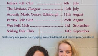 Ella Munro with Catriona Hawksworth on tour in Scotland
