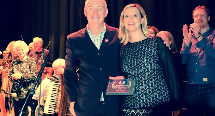 photo of Feis Rois accepting award