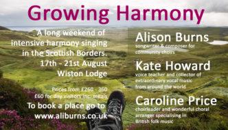 Growing Harmony – Intensive Singing Weekend
