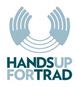 Hands Up for Trad logo